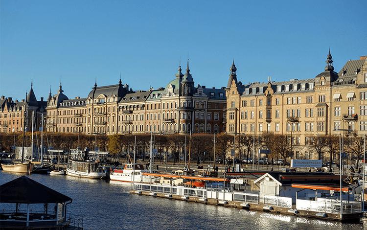 スウェーデン街並み